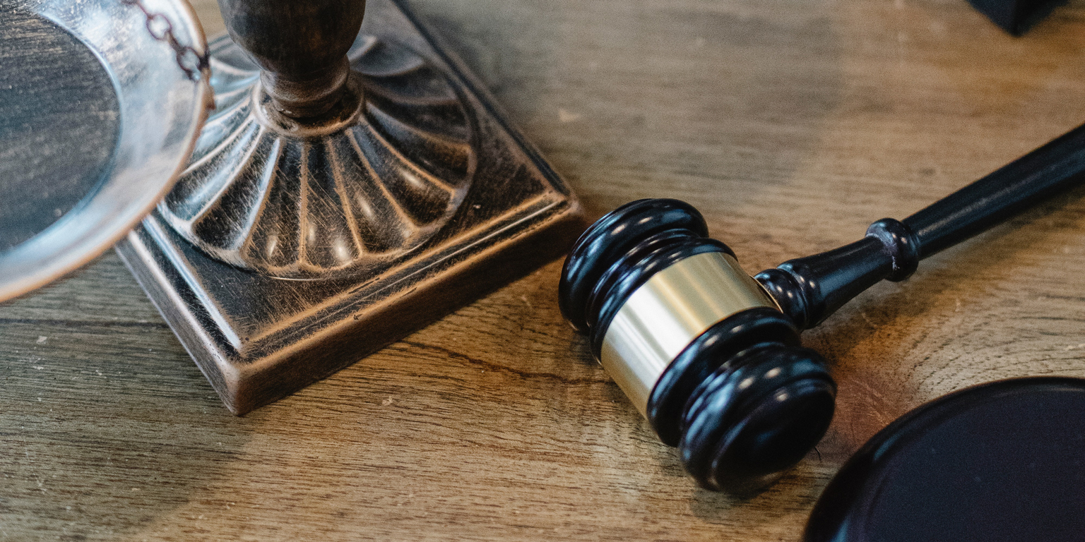 Gavel on Table in Indianapolis Business Law Firm